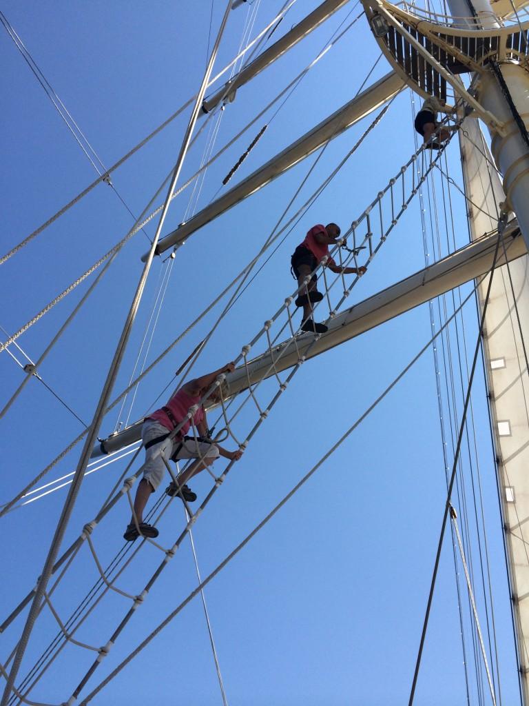 You can climb the masts on Star Clippers cruise. * Photo: Heidi Sarna
