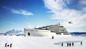The super high tech and luxury Crystal Endeavour. * Photo: Crystal Cruises
