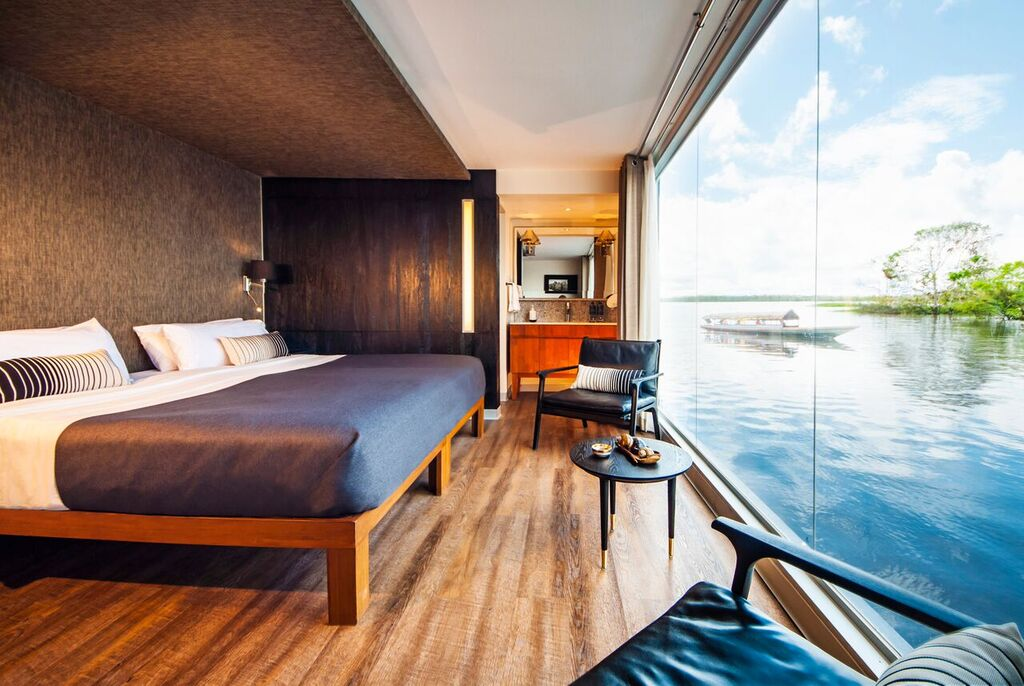 Aria Amazon's gorgeous rooms. * Photo: Aqua Expeditions