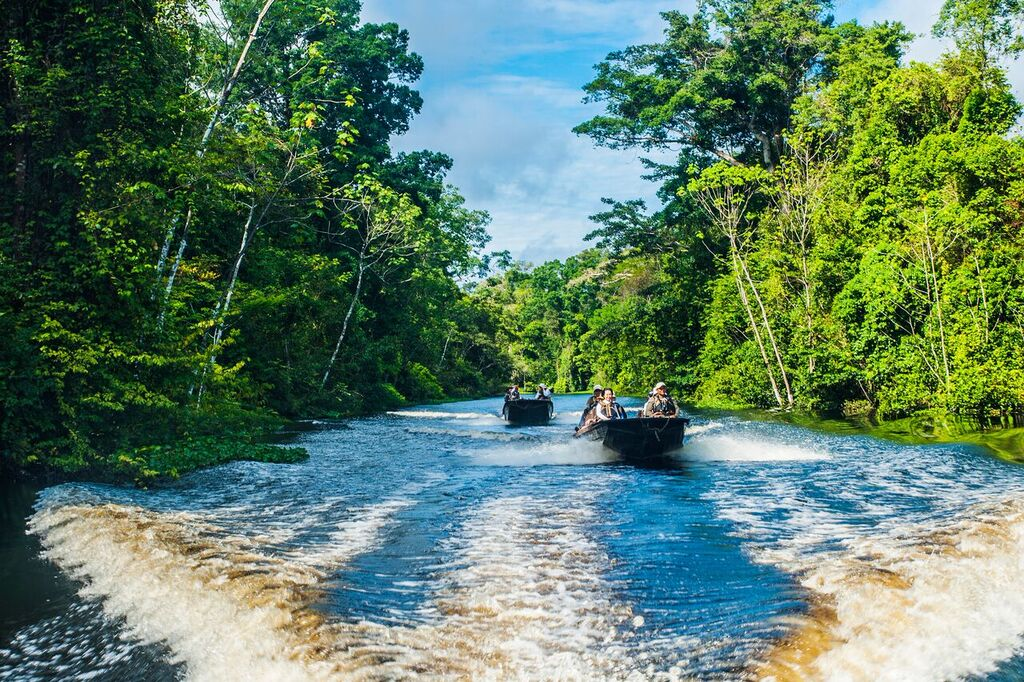 Excursions down a scenic Amazon tributary. * Photo: Aqua Expeditions