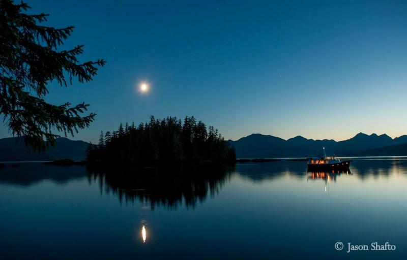 Sunset off Haida Gwaii. *Photo: Jason Shafto