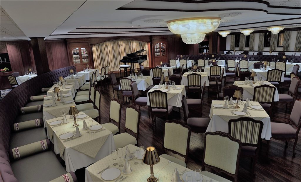 The Crescent Room for fine dining. * Photo: French America Line