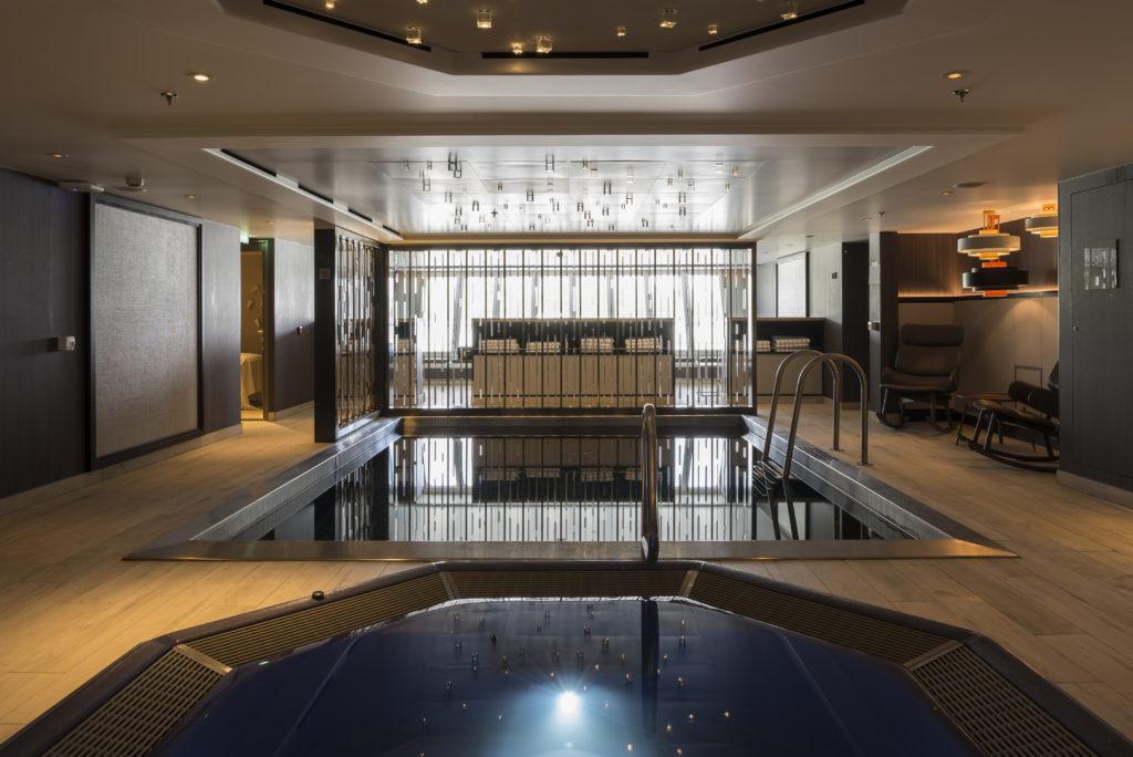 Crystal Mozart's spa and indoor pool, WOW! * Photo: Crystal Cruises