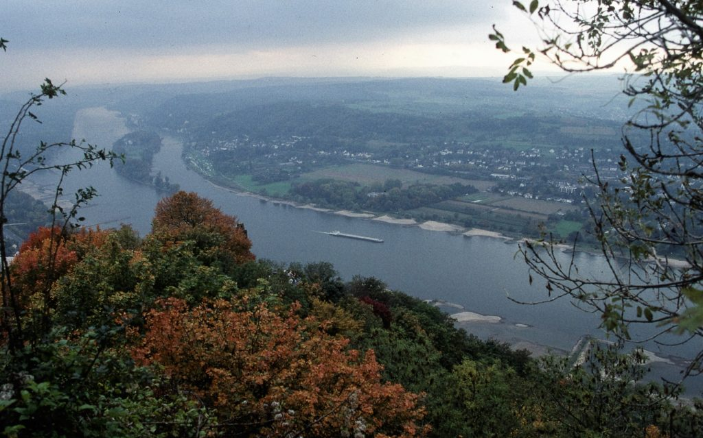 View up the Rhine in autumn. * Photo: ted Scull