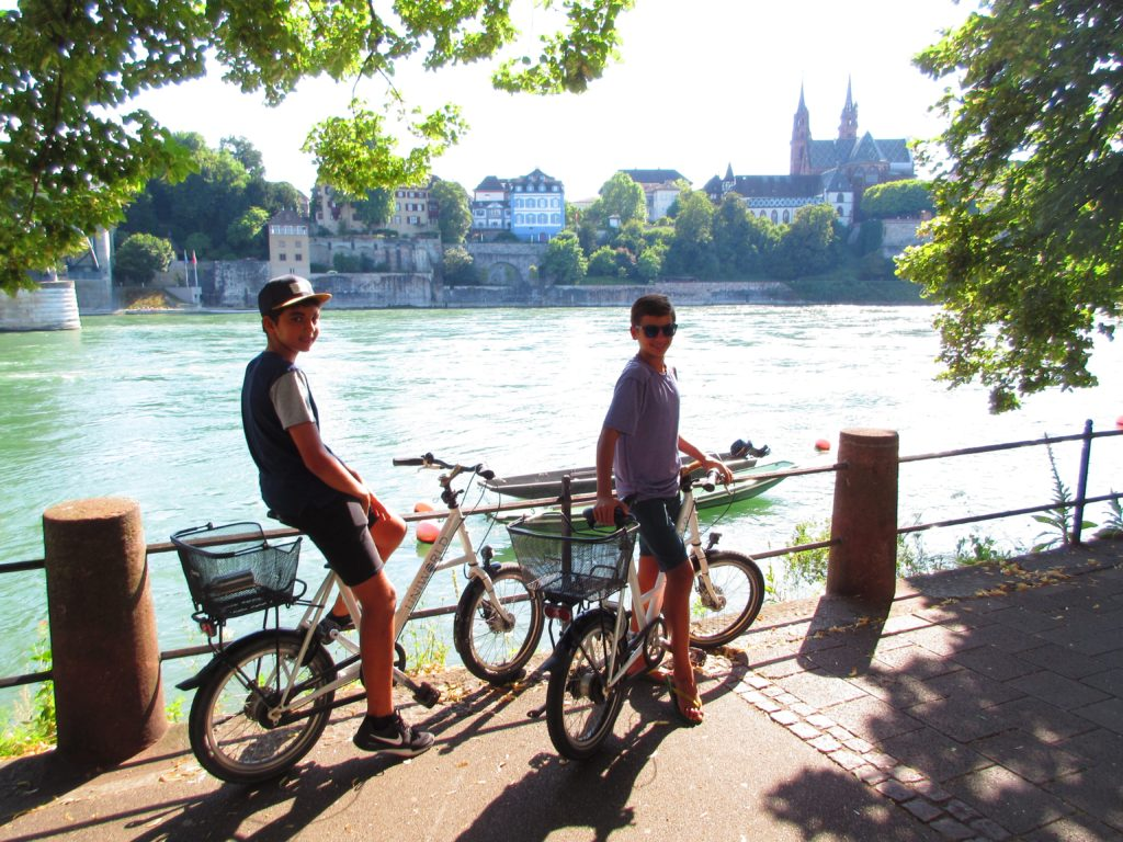 Biking along the Rhine in Basel before the it's time to sail. * Heidi Sarna
