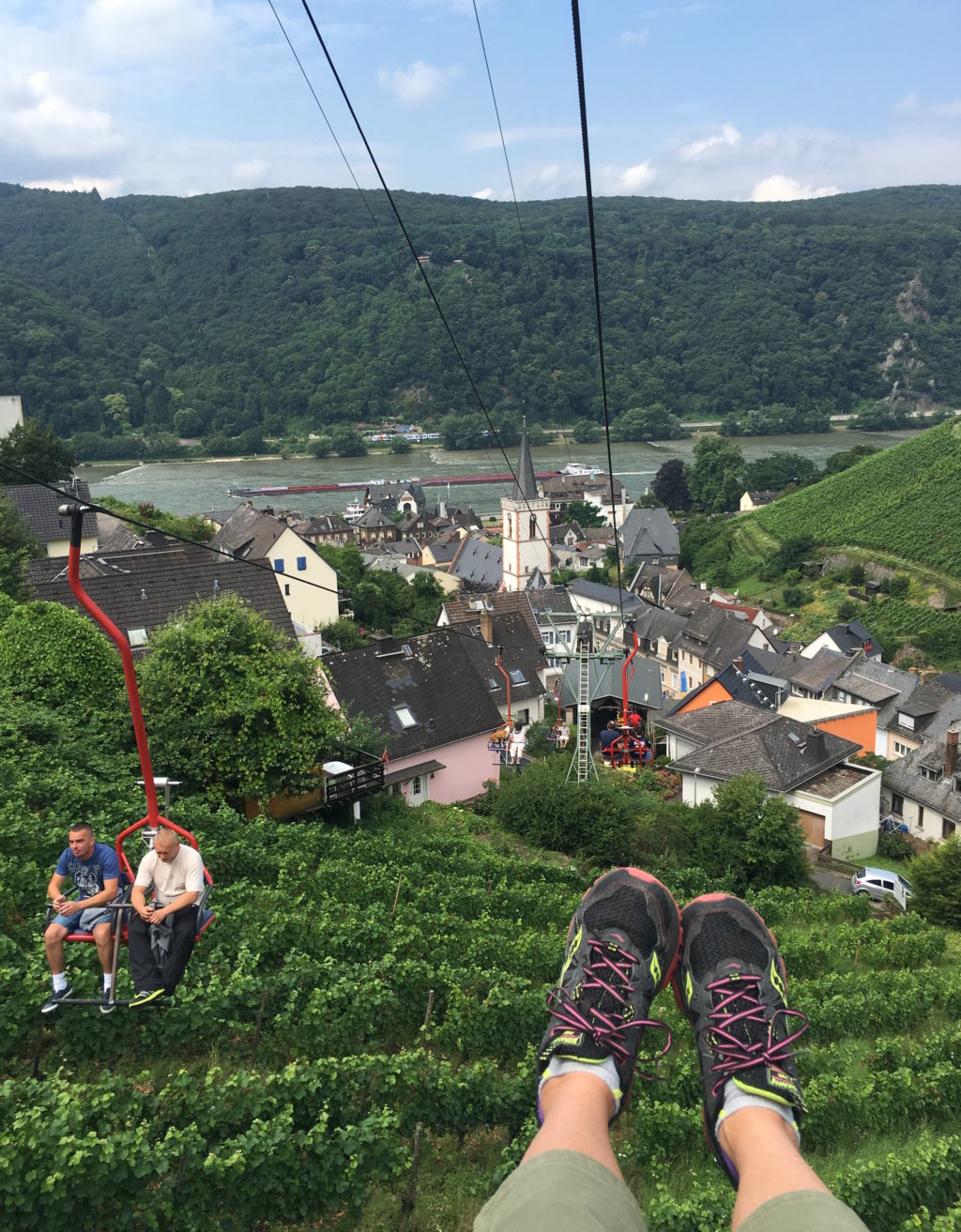 Over the grapes and down to the Rhine. * Photo: Heidi Sarna