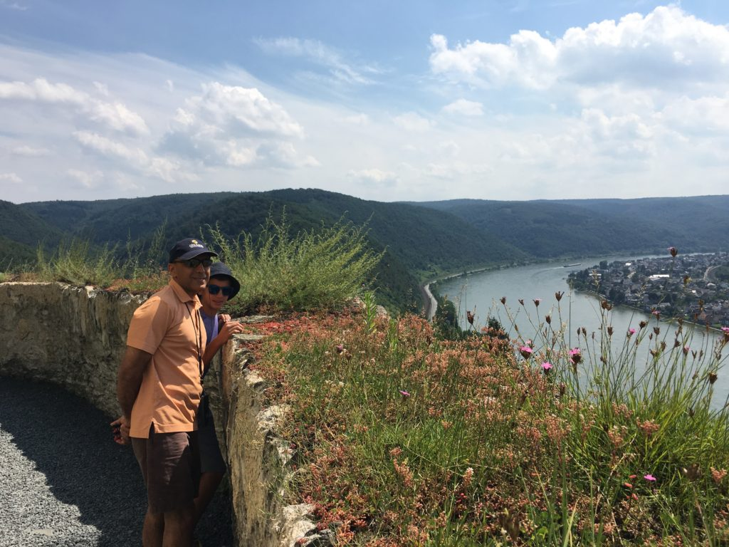 The scenic Middle Rhine from a hilltop castle. * Photo: Heidi Sarna