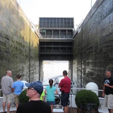 One of the 10 locks many Rhine River cruise boats pass through. * Photo: Heidi Sarna
