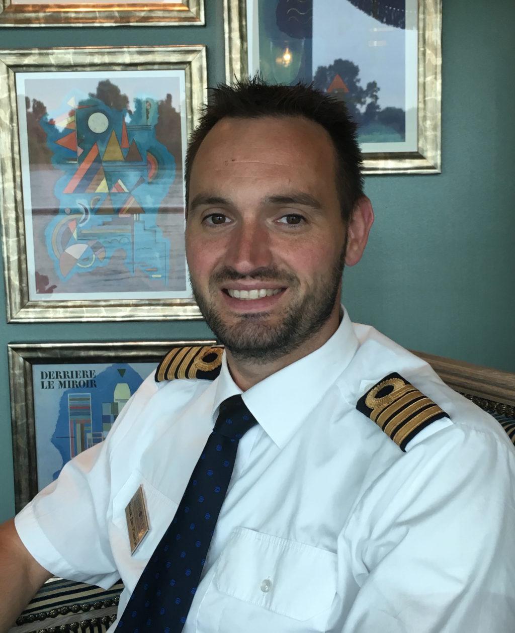 Uniworld Captain Henk Jan Plaatje * Photo: Heidi Sarna
