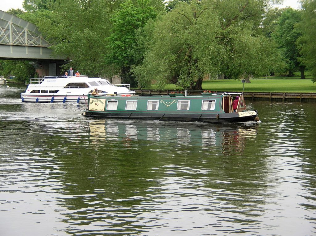 Contrasting types of river craft, seen here in the Thames near Windsor. * Photo: Ted Scull