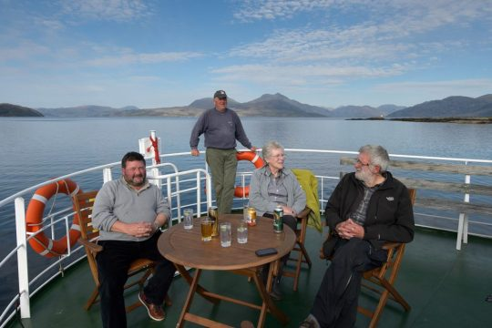 The few number of people aboard the Hebridean Princess provides an intimate shared experience. * Photo: Ted Scull