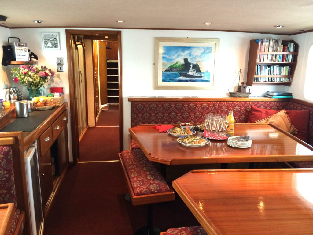 Snacks in the dining saloon. * Photo: Hebrides Cruises