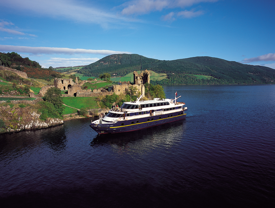 LORD OF THE GLENS passing Urquhart Castle. * Photo: Magna Carta SS Co.