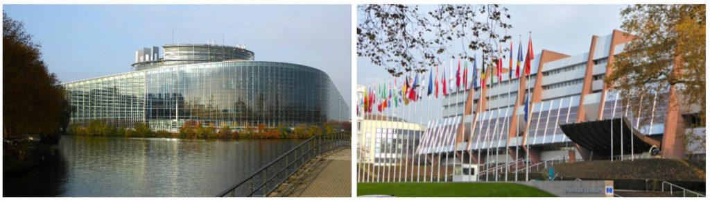 Parliamentary panes & Palais de l'Europe.