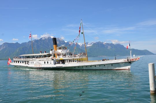 1907-built Vevey in Montreux, Lac Léman. * Photo: Ted Scull