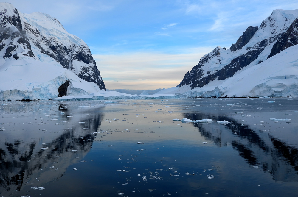 South end of Lemaire Channel, Antarctic Peninsula. Photo: Richard White