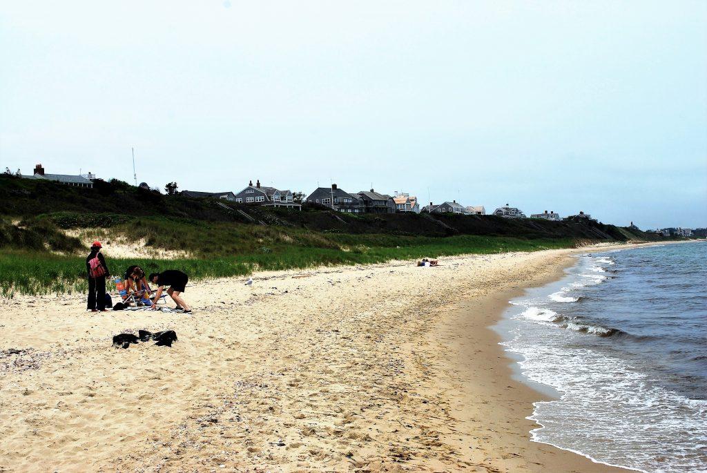 A Nantucket cliffside beach facing the sound.