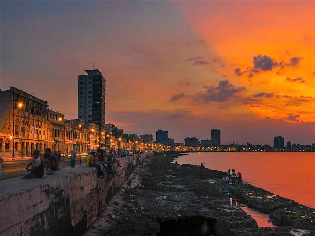 Havana at sunset.. * Photo: Howard Ignatius