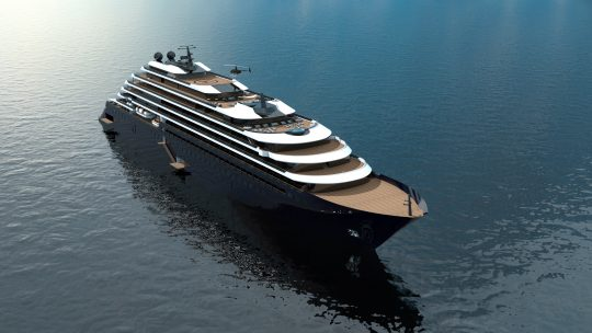 A rendering of the Ritz Carlton's new 298-passenger yacht in the works. * Photo: Ritz Carlton