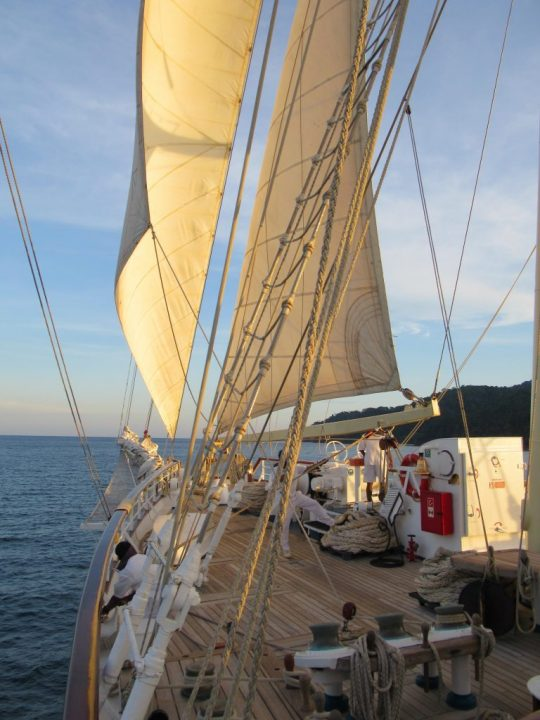 Star Clipper in the Andaman Sea off of Thailand. * Photo: Heidi Sarna