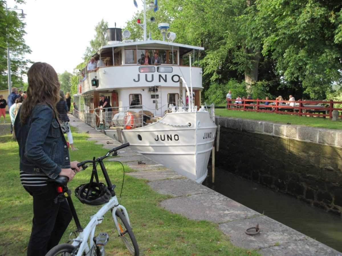 Bicycling along Sweden's Gota Canal