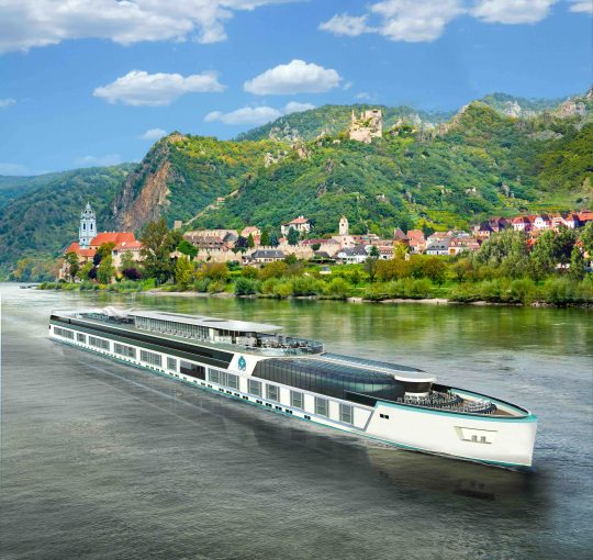 Crystal Bach rendering. * Crystal Cruises