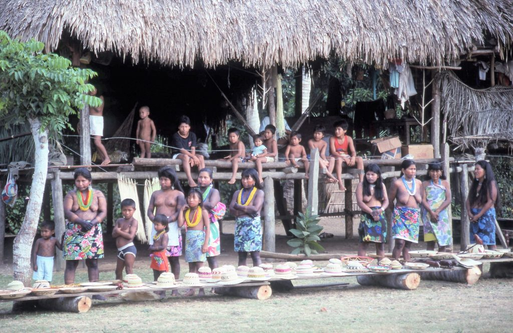 Visiting a village in the remote Darien jungle, Panama