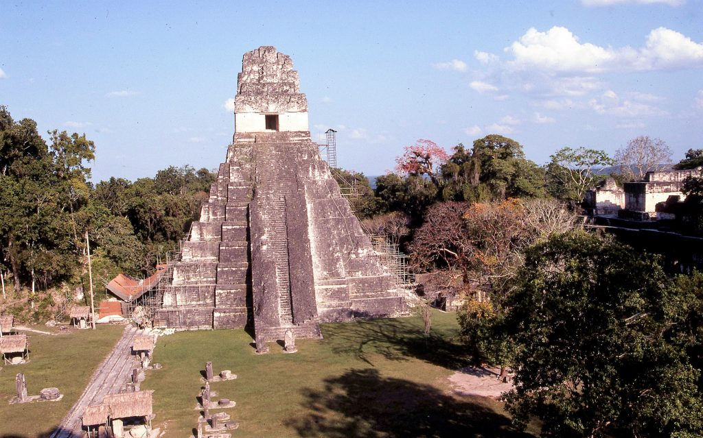 Tikal, a pyramid in Belize.