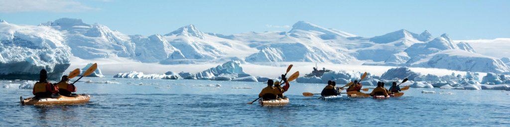 Kayaking in Antarctica. * Photo: Polar Latitudes