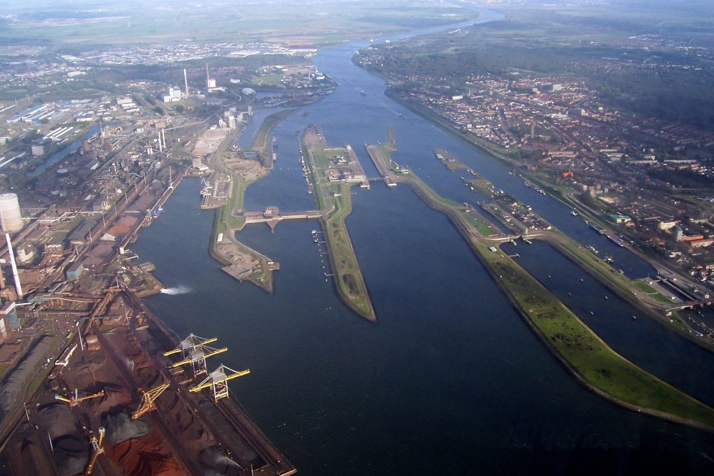 The North Sea Canal links Amssterdam to the North Sea