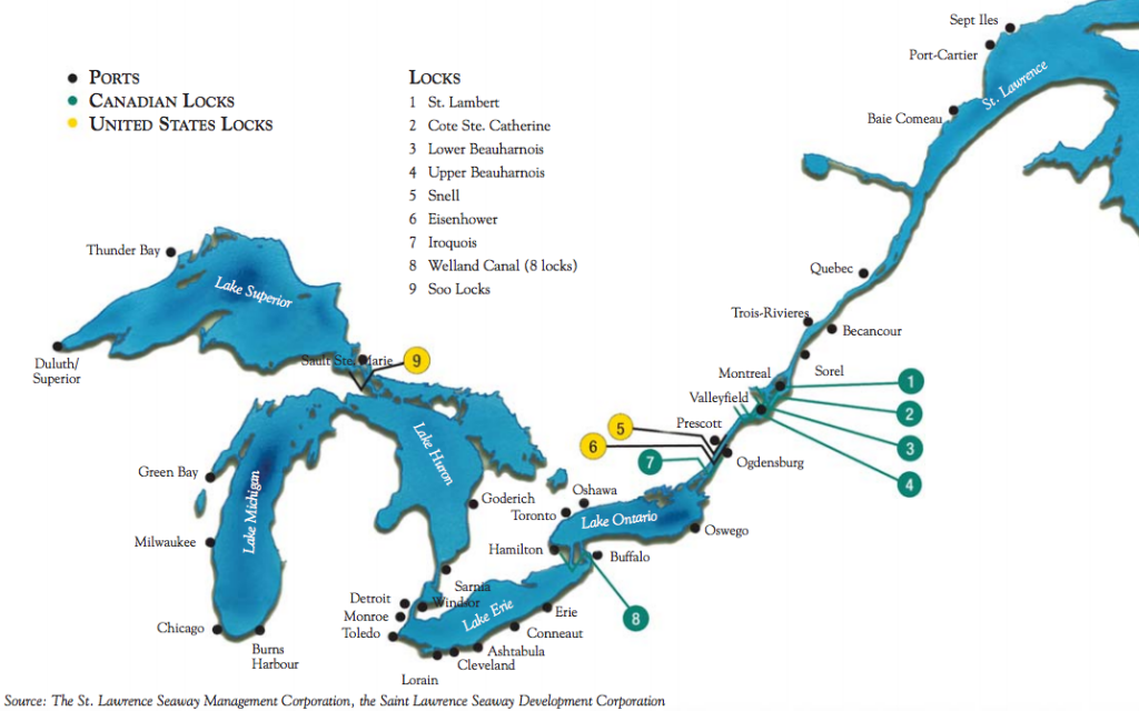 North American Canal Transits