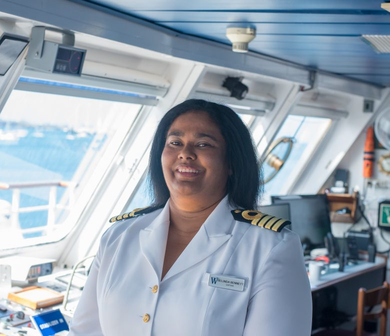Capt Belinda Bennett On Wind Star S Bridge Quirky Cruise