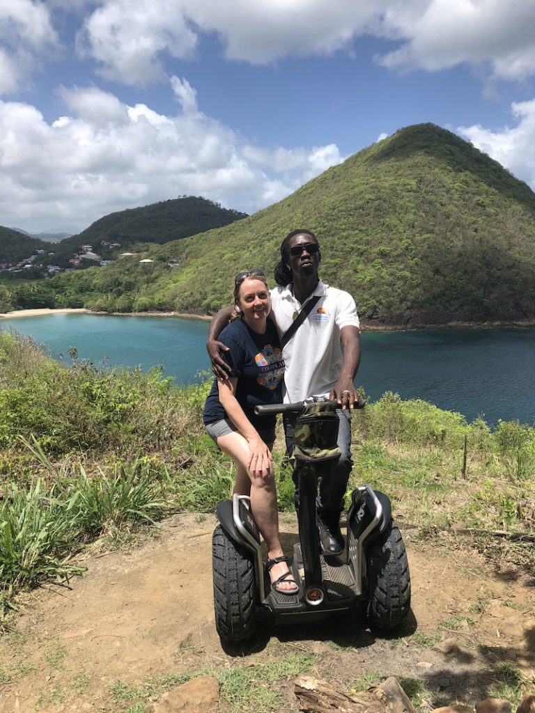 Island Windjammers' Caribbean Sailing Adventure with sailors on a segway tour on st lucia
