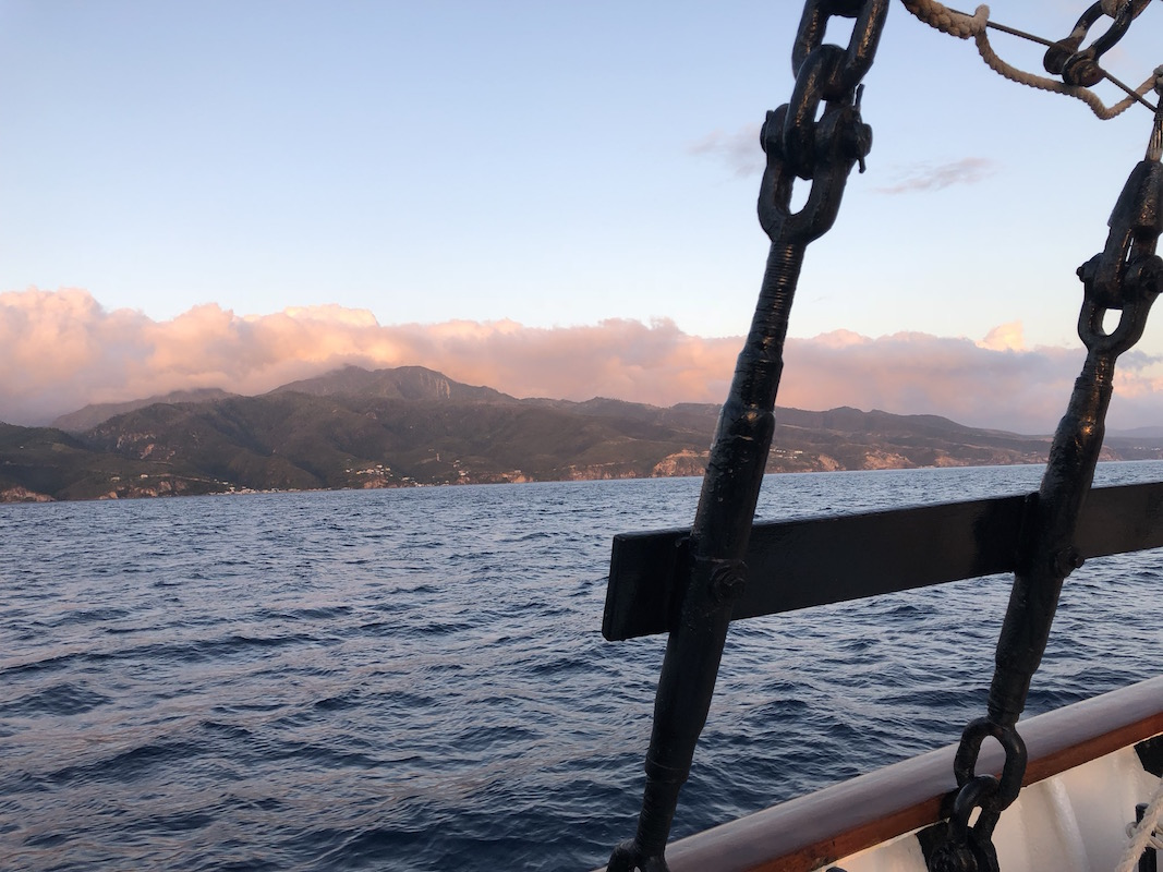 view of Dominica from the small ship cruise line Island Windjammers