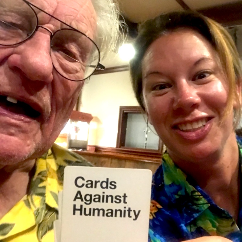 Island Windjammers' Caribbean Sailing Adventure with cruisers playing the game cards against humanity