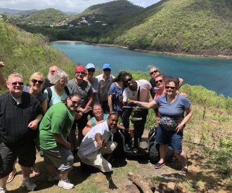 Island Windjammers' Caribbean Sailing Adventure featuring cruisers and the ship crew on st lucia