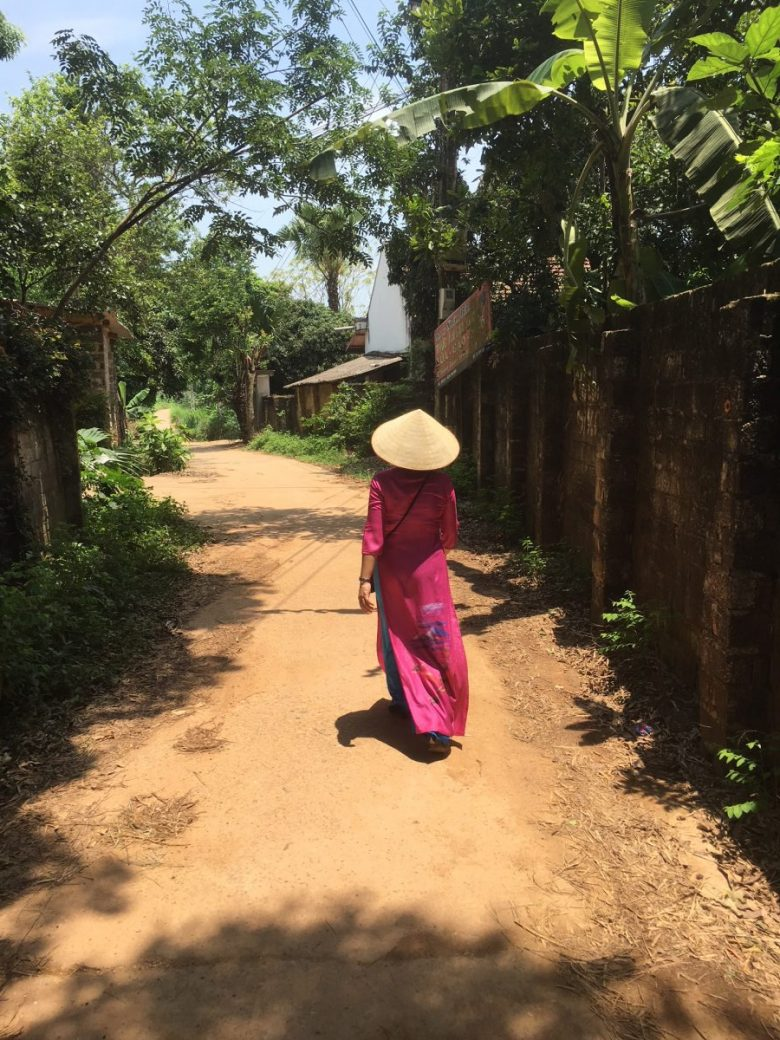 Traditional Clothes On Village Path Northern Vietnam Heidi Sarna Quirky Cruise