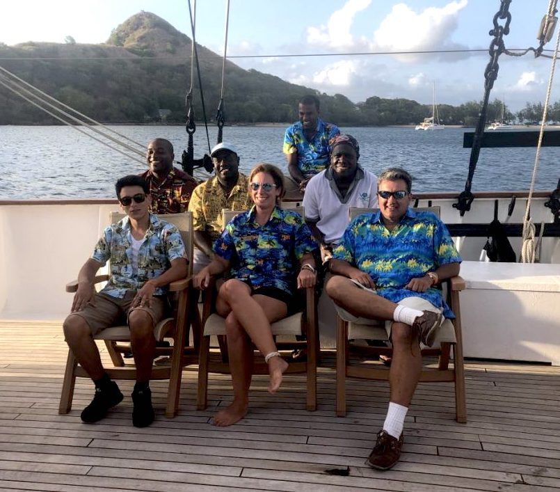 Island Windjammers' Caribbean Sailing Adventure crew aboard the ship Vela