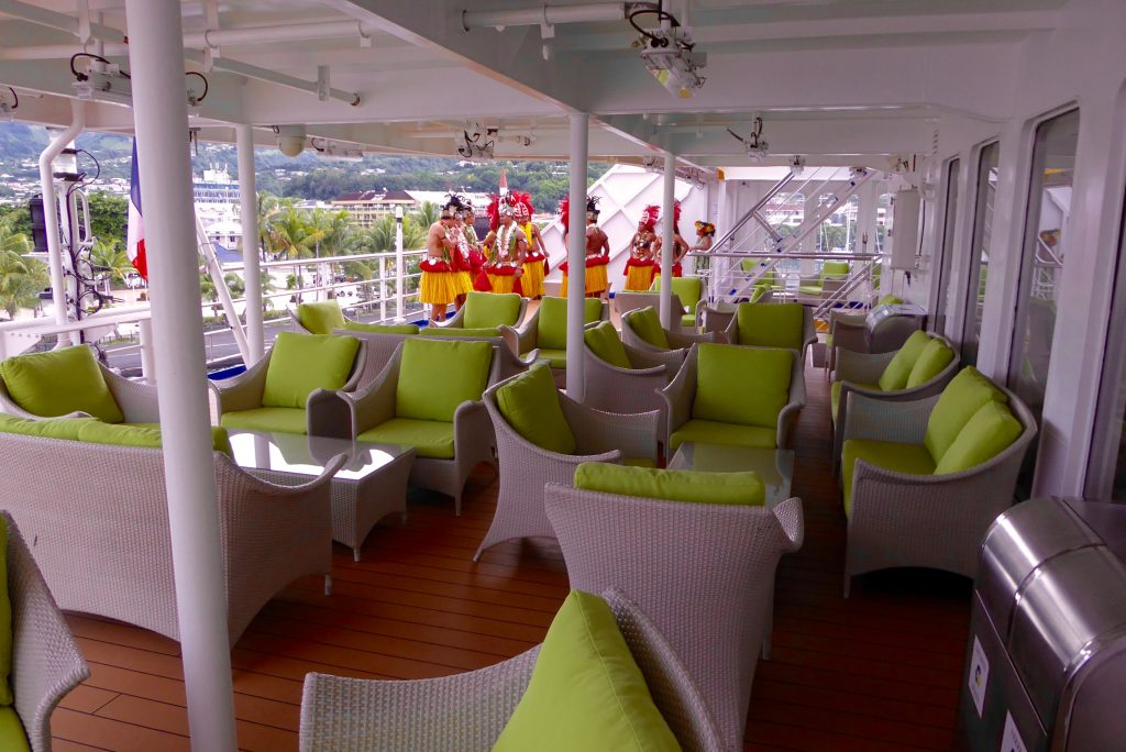 Aranui Cruises aft deck