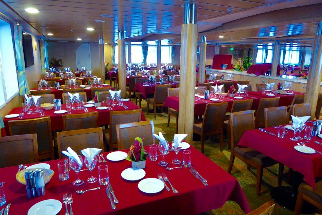 Aranui Cruises onboard restaurant