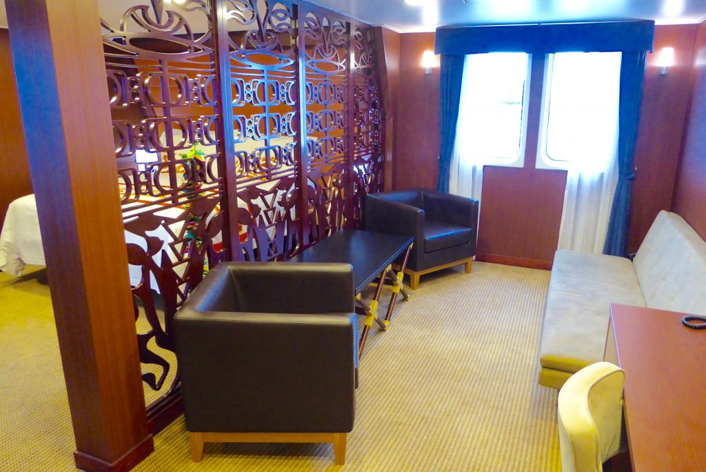 Aranui Cruises Royal Suite living room