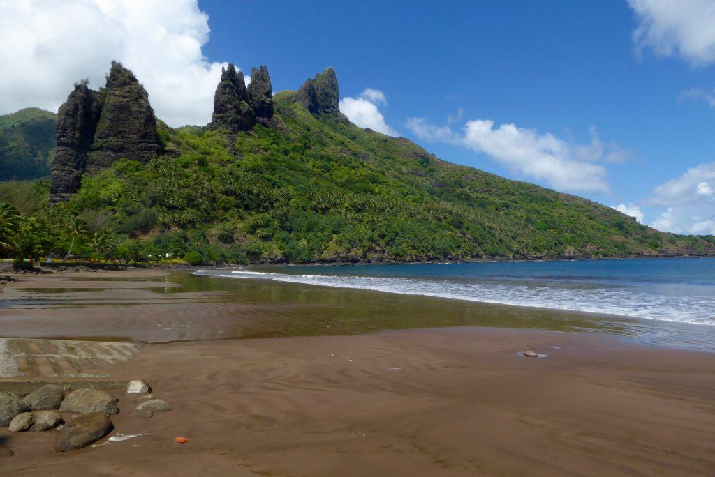 Beach at Kamuihei, Nuku Hiva with Aranui Cruises