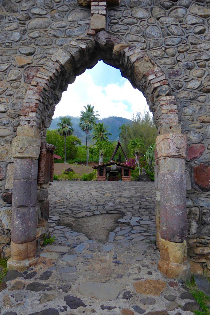 Stone arch on an Aranui port of call