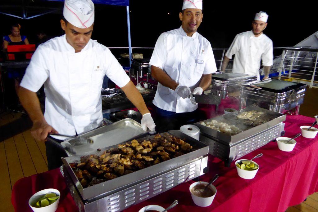 Aranui 5 deck barbecue