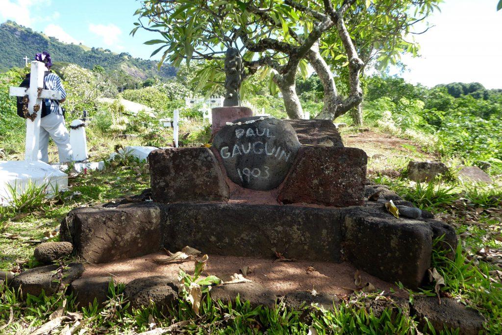 seeing Paul Gauguin's grave on an Aranui Cruise