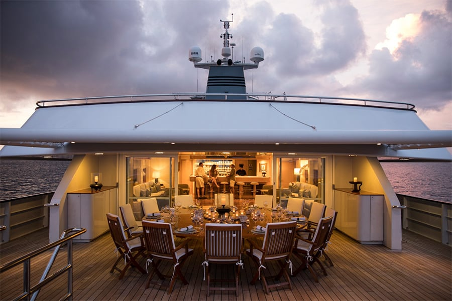 Aqua Expeditions dining