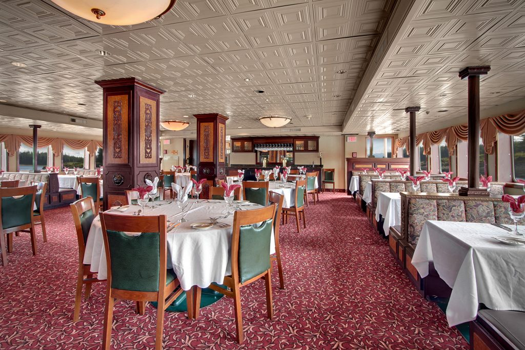 The Klondike dining room aboard the Legacy