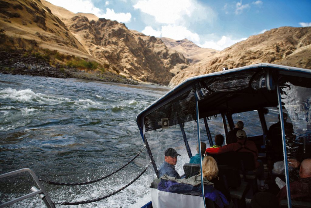 Jet Boat Tour into Hell's Canyon on a Columbia & Snake Rivers cruise