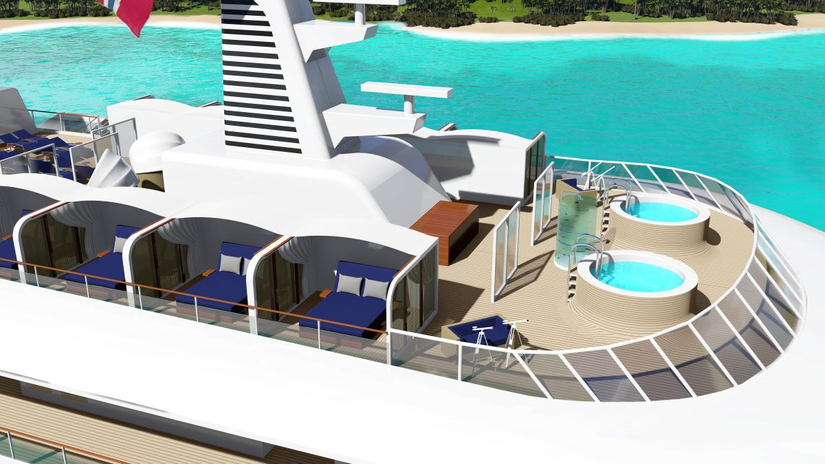 The new SeaDream Innovation will have Balinese beds on deck