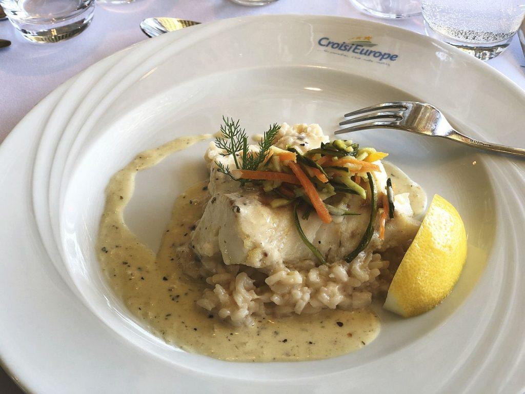Venice lagoon cruise dining on cod